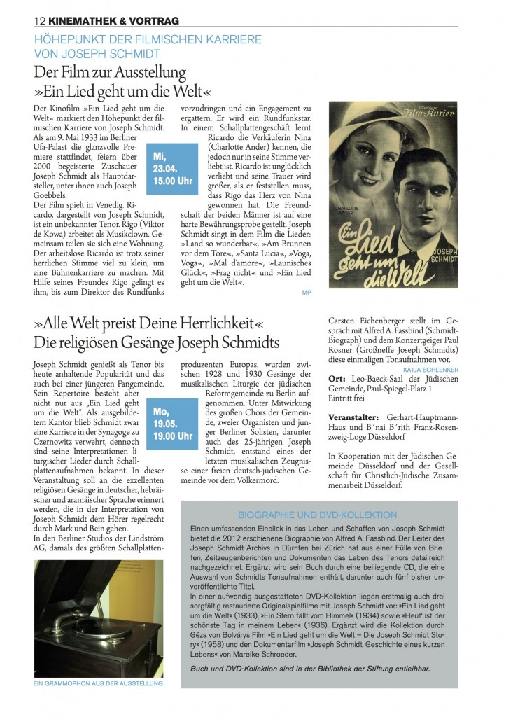 West-Ost-Journal 201402 S9 - Auf den Spuren des Tenors Joseph Schmidt3