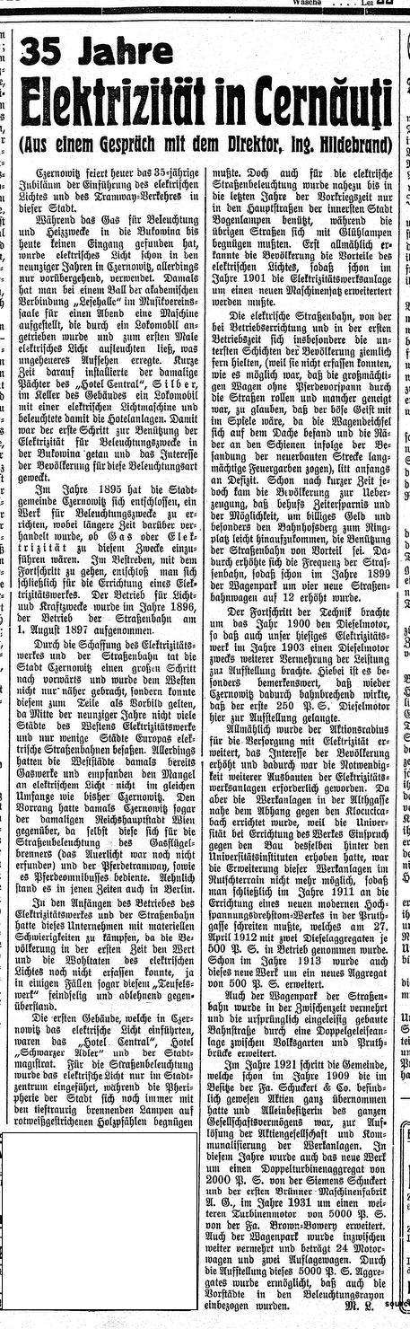Elektrizitaet in Cz_Juni1932_DerTag