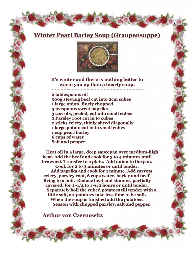 Winter Pearl Barley Soup-Graupensuppe